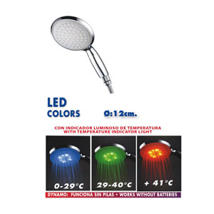 MANGO DUCHA COLORS LUZ LED 08690014