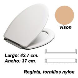 ASIENTO INODORO FLORIT BR BEIG VISON